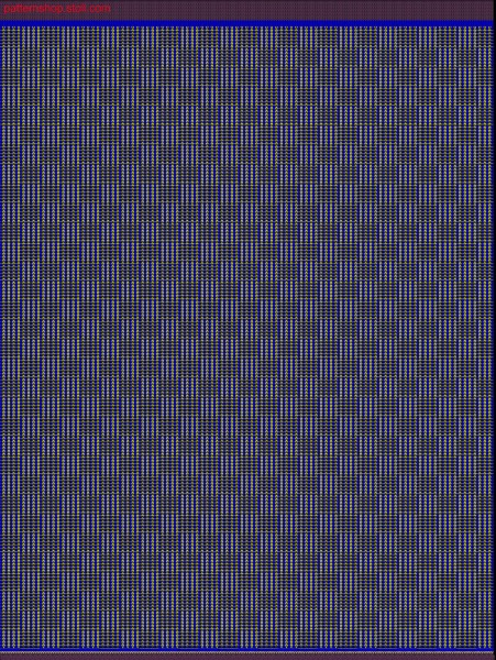 2-colour jersey transfer structure / 2-lagiger und farbiger Musterabschnitt
