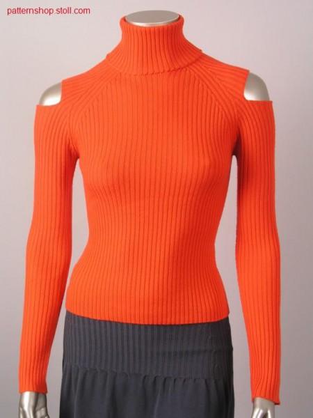 Fitted 2x2-rib raglan pullover / Taillierter 2x2-Ripp Raglanpullover
