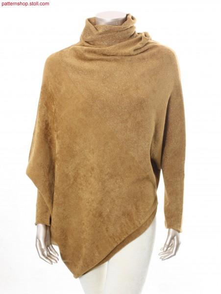 Pullover, made up across knitting direction / Long-Pullover, quer zur Strickrichtung konfektioniert
