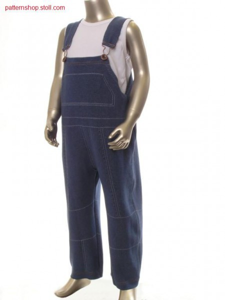FF-intarsia children's jeans dungarees / FF-Intarsia Kinder-Jeanslatzhose