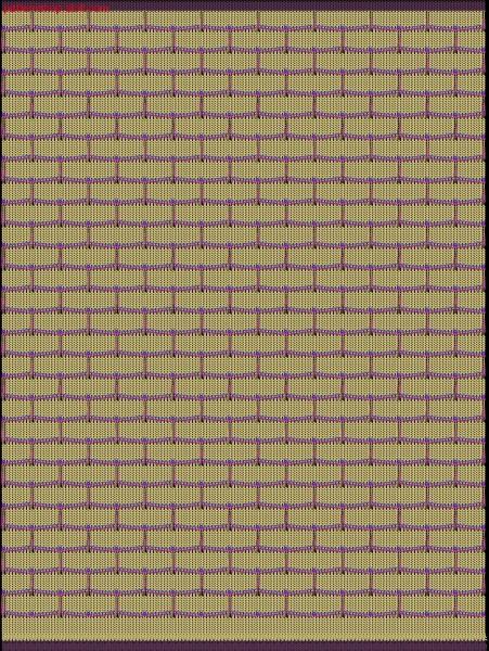 Jersey swatch with 2-colour float thread structure / Rechts-Links Musterabschnitt mit 2-farbiger Flottfadenstruktur