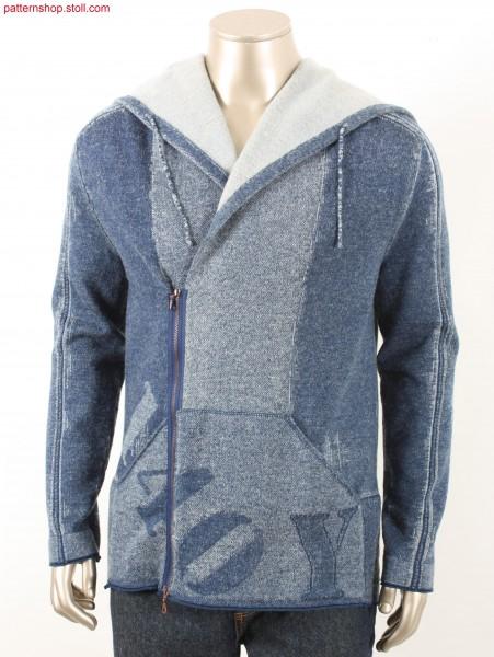 Fully Fashion hooded denim cardigan / Fully Fashion Kapuzen-Strickjacke in Jeansoptik