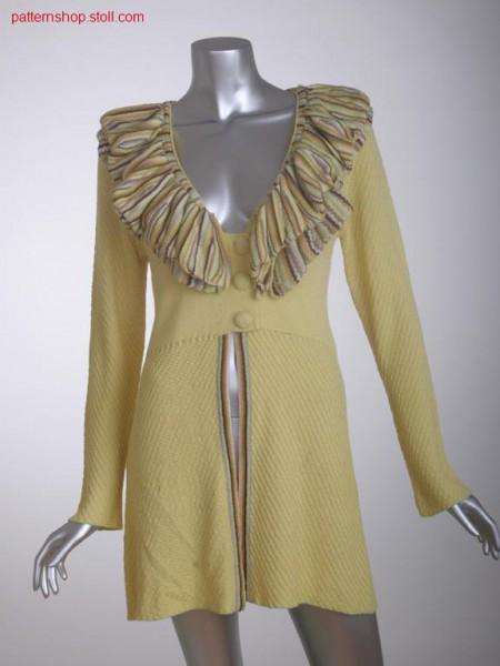 Fitted FF-cardigan in jersey-structure with V-neck / Taillierte FF-Strickjacke in Rechts-Links Struktur mit V-Ausschnitt