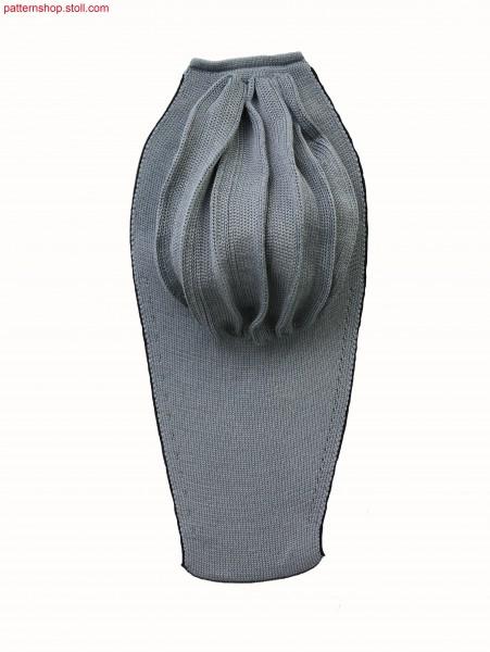 Bikini breast part in 1x1 half tubular / Bikinioberteil-Musterausschnitt in 1x1 Halbschlauch