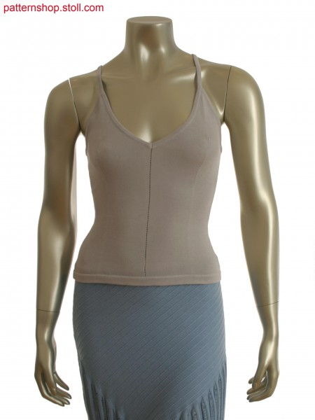 Fully Fashion top with integrated dart effect