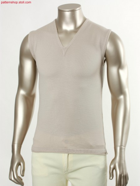 Fully Fashion jersey slipover with french shoulder / FullyFashion Rechts-Links Pullunder mit franz