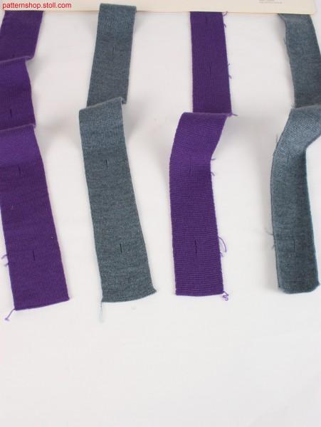 4 different trimmings with buttonholes / 4 verschiedene Blenden mit Knopflöchern