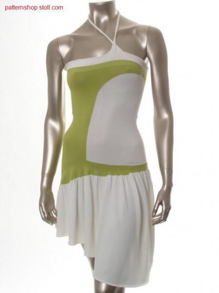 Strapless jersey neck-holder dress / Schulterfreies Rechts-Links Neckholderkleid