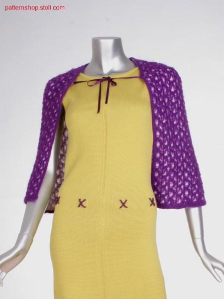Two-layer fully fashion bolero with mesh structure / Zweilagiger Fully Fashion Bolero mit Netzstruktur