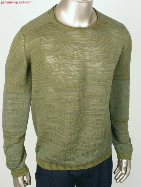 Pullover in slub yarn look / Pullover in Flammgarn-Optik