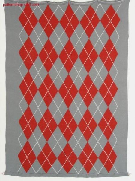 Burlington-intarsia pattern with 22 intarsia yarn carriers /Burlington-Intarsiamuster mit 22 Intarsia Fadenf