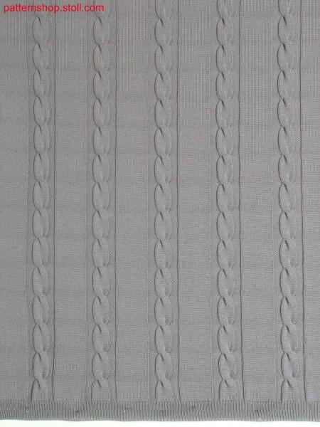 2x6 cables in true gauge stitch optik / 2x6 Z