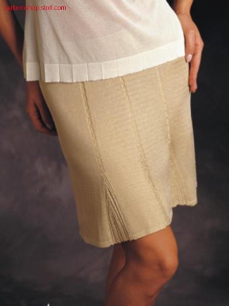 FF-Skirt with mock pleating design / FF-Rock mit angedeutetenFalten
