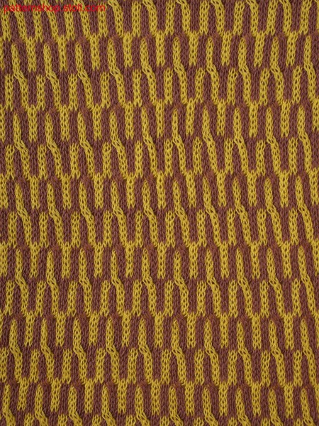 2-colored float jacquard with cables