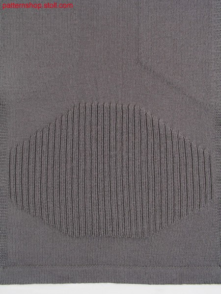 Jersey-rib structure with jacquard inside / Rechts-Links Struktur mit Jaquard Innenseite