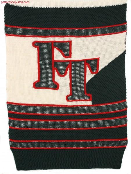 Striped swatch in rice grain tuck stitch structure / Geringelter Musterausschnitt in Reiskorn-Fangstruktur