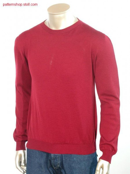 Jersey - pullover with straight inserted sleeves / RL - Pullover mit gerade eingesetztem Arm