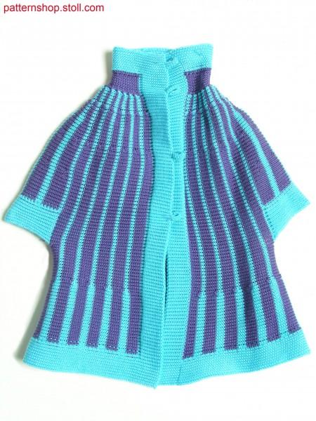 Striped Fully Fashion jersey miniature cardigan / GeringelteFully Fashion Rechts-Links Miniaturstrickjacke