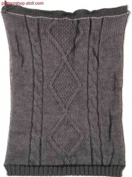 Three layer fabric in 1x1 technique / Dreilagiges Gestrickin 1x1 Technik