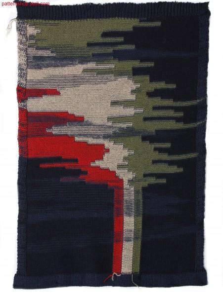 Intarsia jersey swatch / Rechts-Links Musterausschnitt