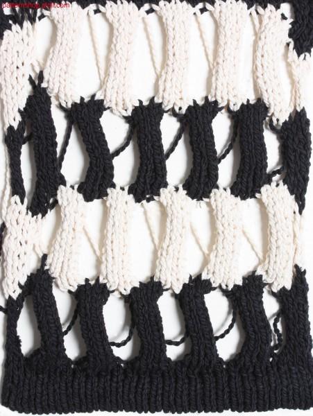 Striped swatch in 1x1 technique / Geringelter Musterausschnitt in 1x1 Technik
