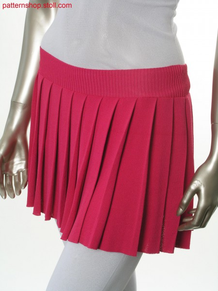 Fully Fashion mini skirt in double jersey / Fully Fashion Minirock in Rechts-Rechts