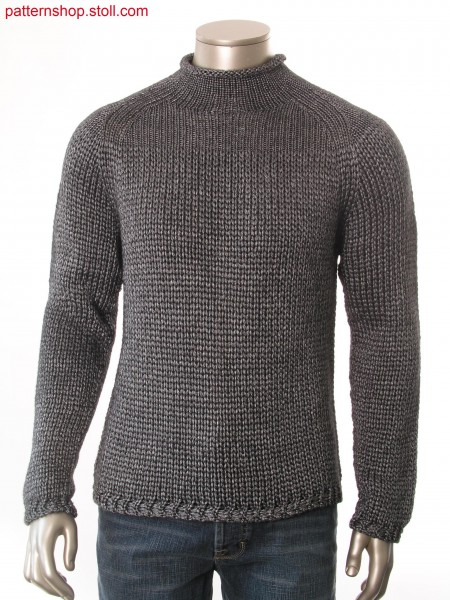 Raglan pullover in jersey with cast off technique / Raglanpullover in Rechts-Links mit Abwerftechnik