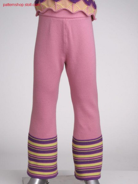Fully fashion jersey children's trousers / Fully Fashion Rechts-Links Kinderhose