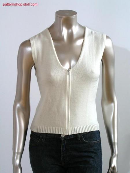 Tailored jersey waistcoat / Taillierte Rechts-Links Weste