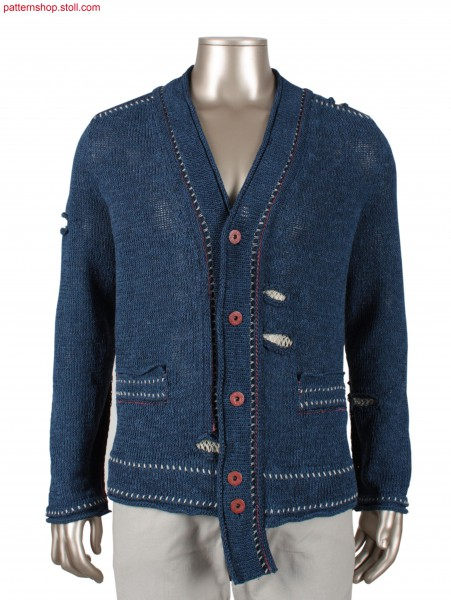 Fully Fashion cardigan with saddle shoulder / Fully Fashion Strickjacke mit Sattelschulter