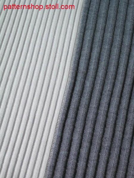 2-colour intarsia-rib pattern / 2-farbiges Intarsia-Rippmuster