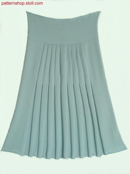 Jersey knitted fabric with pleats / Rechts-Links Gestrick mit Plisseefalten