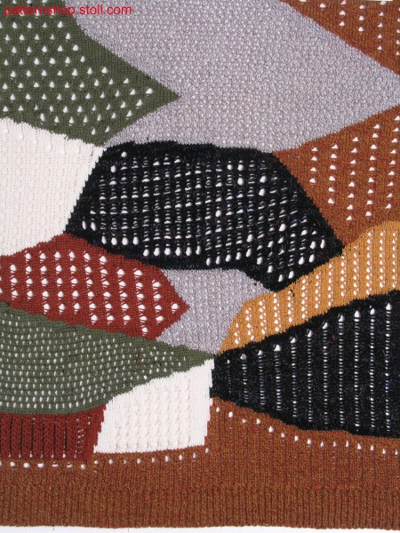 Intarsia pattern with different knitting structures / Intarsiamuster mit verschiedenen Strickbindungen