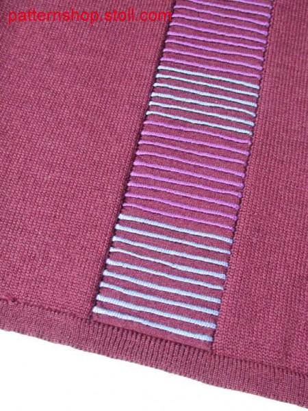 Jersey intarsia swatch with 2-colour waves / Rechts-Links Intarsia-Musterabschnitt mit 2-farbirger Wellenmusterung.