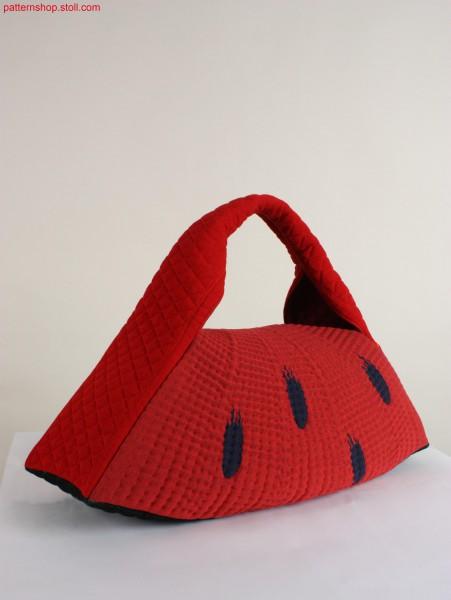 Melon handbag in 3D gore technique / Melonen-Handtasche in 3D Spickeltechnik