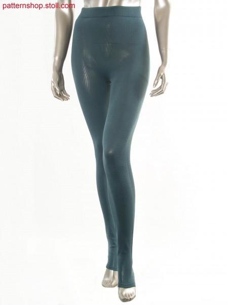 Jersey leggings with linked-off elastic waist / Rechts-Links Leggings mit abgeketteltem Dehnbund