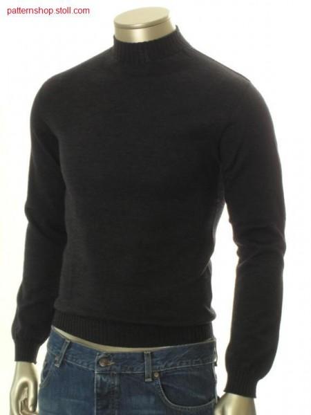 Jersey pullover with insert sleeves / Rechts-Links Pullover mit eingesetzten