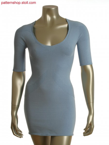 Stoll-knit and wear&reg dress with partial float and jersey transfer structure