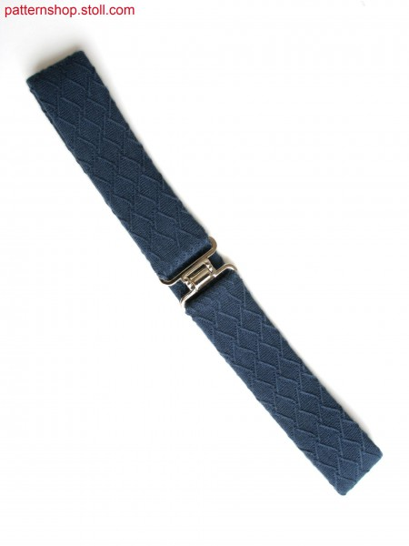 Fully Fashion belt with float structure in 10gg optic