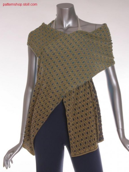 Scarf in plated jersey-structure / Schal in plattierter Rechts-Links Struktur