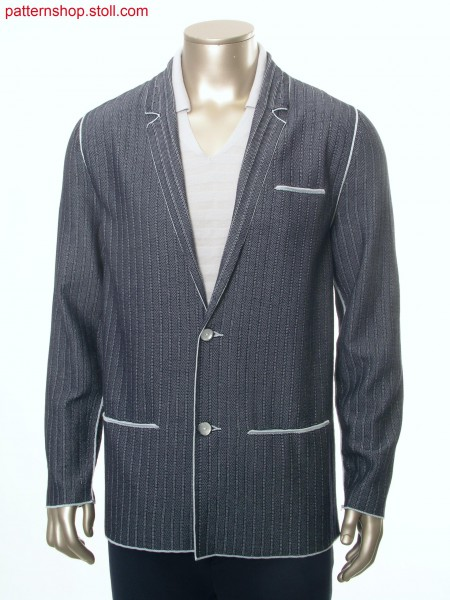 Fully Fashion blazer in 2-colour woven-like structure/ Fully Fashion Weboptik-Blazer in 2-farbiger Umh