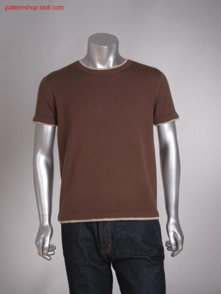FF-jersey T-shirt with tubular cuffs / FF-Rechts-Links T-Shirt mit Schlauchb