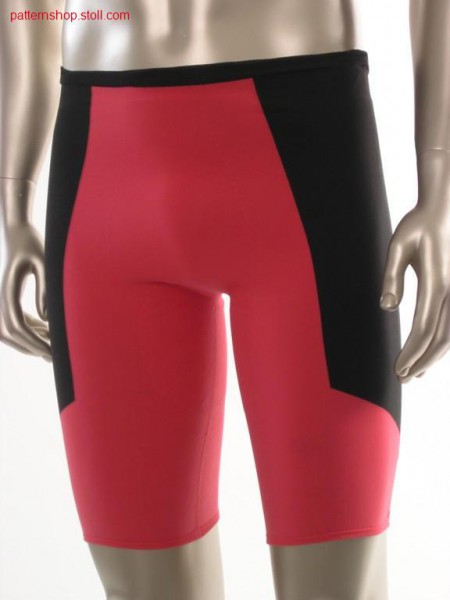 Short jersey-intarsia cycle trousers / Kurze Rechts-Links-Intarsia Radhose