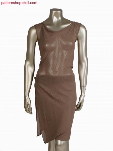 Fully Fashion dress, gore technique and tubular for diamonds, fair isle technique