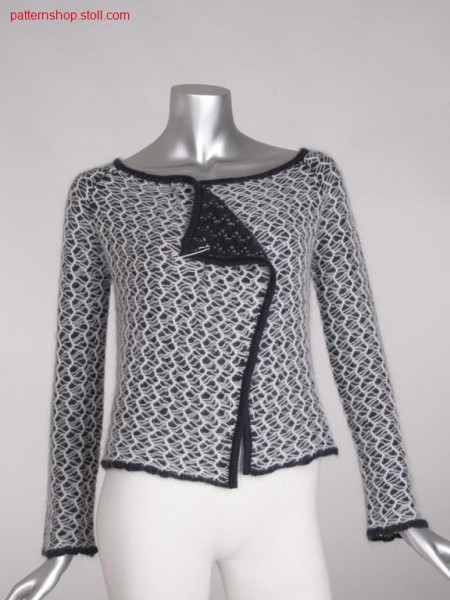 Fully fashion cardigan with mesh structure / Fully Fashion Strickjacke mit Netzstruktur