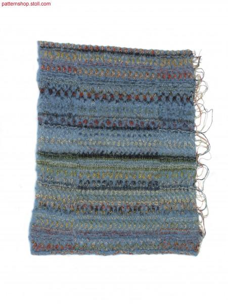 Swatch in 1x1 technique with stripes / Musterausschnitt in1x1 Technik mit Ringel