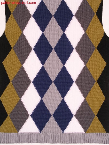 Fully Fashion front with Burlington-intarsia pattern /