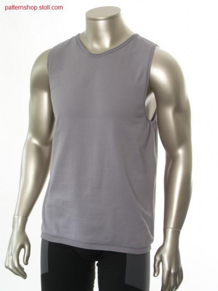 Jersey sports tank-top with enlarged round neck / Rechts-Links Sport Tank-Top mit erweitertem Rundhals