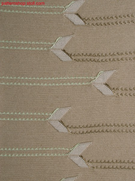 2-colour plating with stripe float structure detail