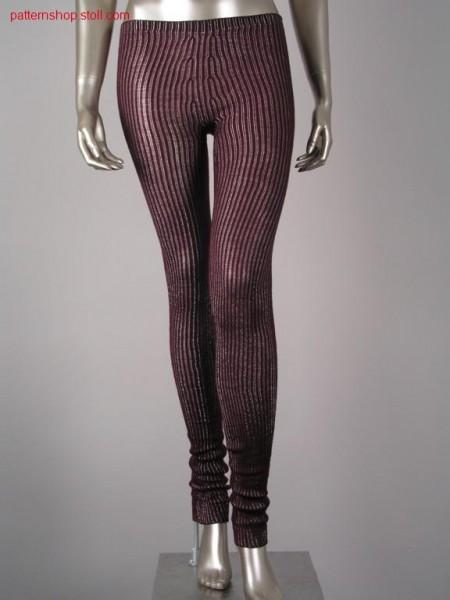 Leggings in 2x2 ribbed cardigan / Leggings in 2x2 Fangrippe